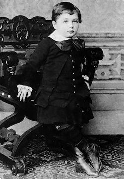 Albert Einstein, age 3 (Wikipedia)