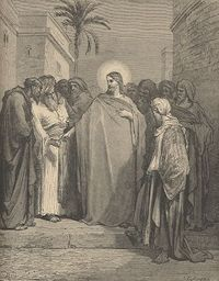 Jesus and the Pharisees by Dore