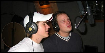 Until Then recording session, Justin O'Rear and Jeremy Pate