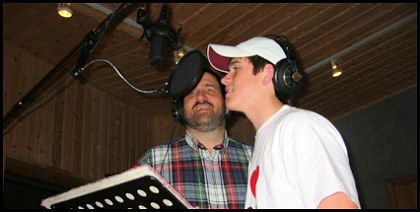 Until Then recording session, Paul and Justin O'Rear