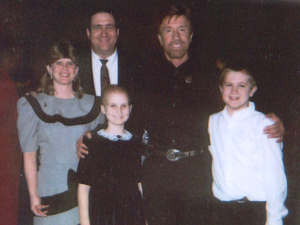 O'Rear family with Chuck Norris, 2000