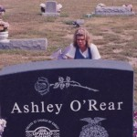 Susan at Ashley's grave